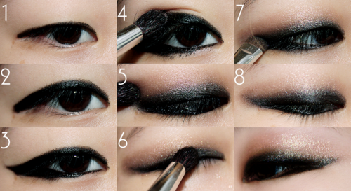 Practice makes perfect! What you'll need for this look: MAC smolder eye liner, #242, #224 MAC brush, MAC Woodwinked shadow, and MAC Blacktrack gel liner, #266 brush.  Step 1: Line Smolder on your top lash line, thicker (it doesn't have to be a perfect line as you will be smudging it!). Now continue to do the same on the bottom lash line :) Step 2: Now with the #242 smudge away! (use this picture as your guide) Step 3: Do a light sweep of Woodwinked with the #224  Step 4: Apply Blacktrack on the top lash line and bottom with the #266 (this creates more depth and will give you the finished smokey look)