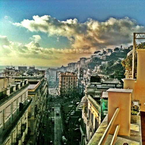 #good #morning #naples - #buongiorno #italy (#popular #igersitalia #buildings #vista #panorama #Napoli #fuorigrotta #mare #sea #mergellina #instafamous #instagood) (Taken with instagram)