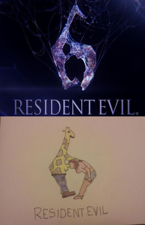 Logos: The Resident Evil 6 logo can look a lot like a giraffe having a good time.