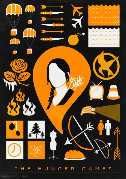 risarodil:  Iconic Poster for The Hunger Games  I'm sorry but the fangirl inside me couldn't resist.  ©risarodil