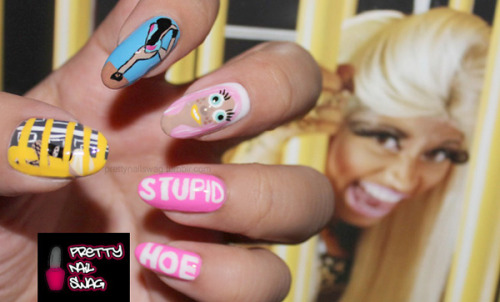 prettynailswag:  YOU A STUPID HOE! No explanation needed, ya'll know I had to go in on this video…don't mind the rushed job, I still get it crackin' like a bad back lmao