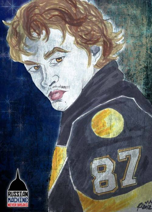 Sidney Crosby is a Vampire. Specifically, the sparkly Edward Cullen from the Twilight series. By RMNB resident artist Rachel Cohen.