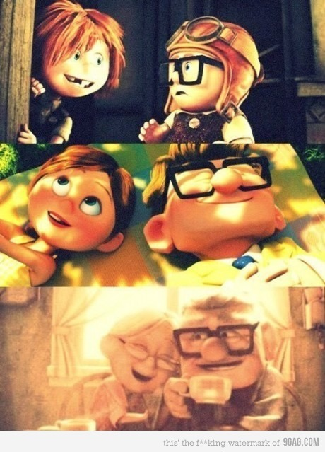 the idea of grow old together. (: