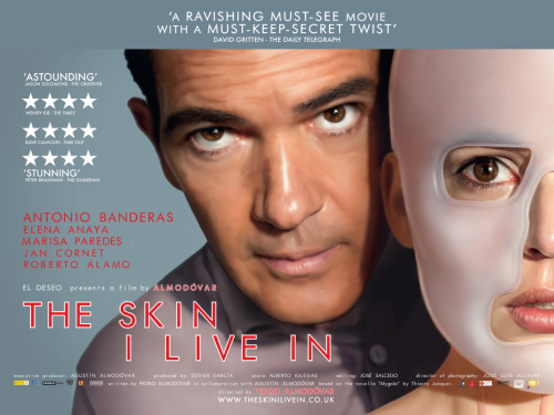#2012films - 3: The Skin I Live In A fantastic film, artful and tense, but that was some really fucked up shit. Antonio Banderas was awesome, and awesomely creepy.