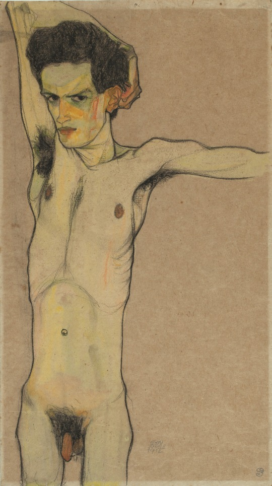 Egon Schiele: Self-portrait, 1912.