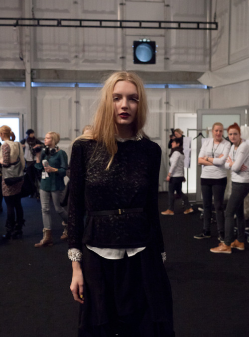 Kaviar Gauche backstage Berlin Fashion Week 01 2012