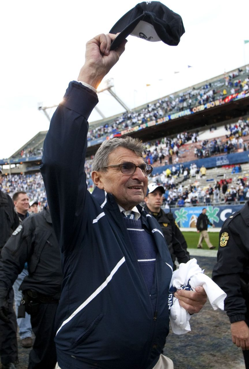 "Joe Paterno loses battle with lung cancerHappy Valley was perfect for Joe Paterno, a place where ""JoePa"" knew best, where he not only won more football games than any other major college coach, but won them the right way: with integrity and sportsmanship. A place where character came first, championships second.Behind it all, however, was an ugly secret that ran counter to everything the revered coach stood for.Paterno, a sainted figure at Penn State for almost half a century but scarred forever by the child sex abuse scandal that brought his career to a stunning end, died Sunday at age 85.Photo: Scott Audette/Reuters"