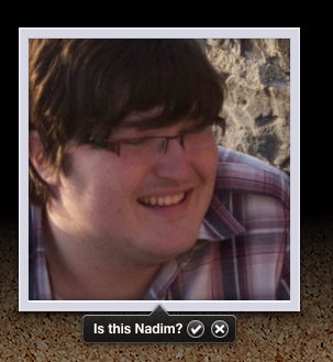My Mac is no fool - its face recognition technology spotted Nadim straight away!