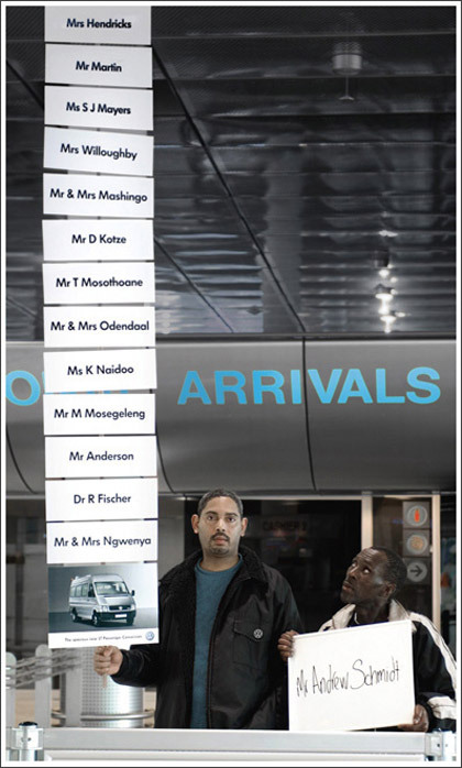 A Volkswagen van chauffeur at the airport By Ogilvy, South Africa