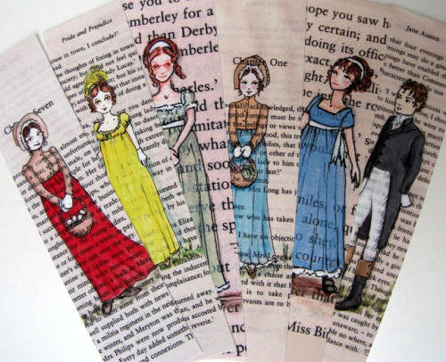 amandaonwriting:  Jane Austen Bookmarks