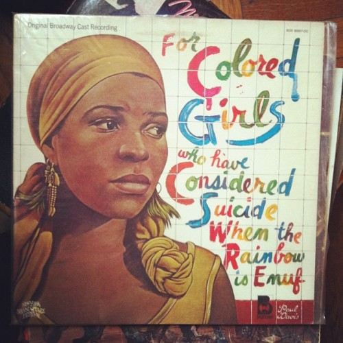 Original B'Wat Recording. For Colored Girls. (Taken with instagram)