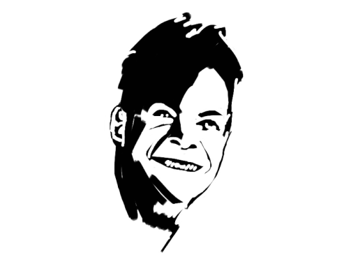 "Richard Feynman work in progress. This is the second scientist for the ""exploding head"" series I'm working on."