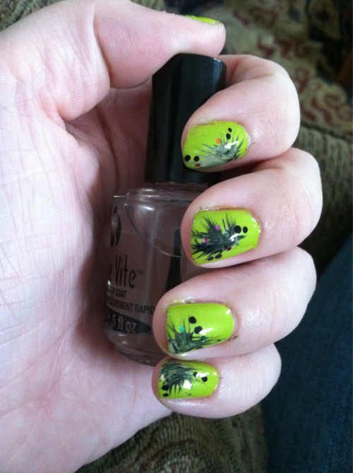 Shrek threw up on my nails!