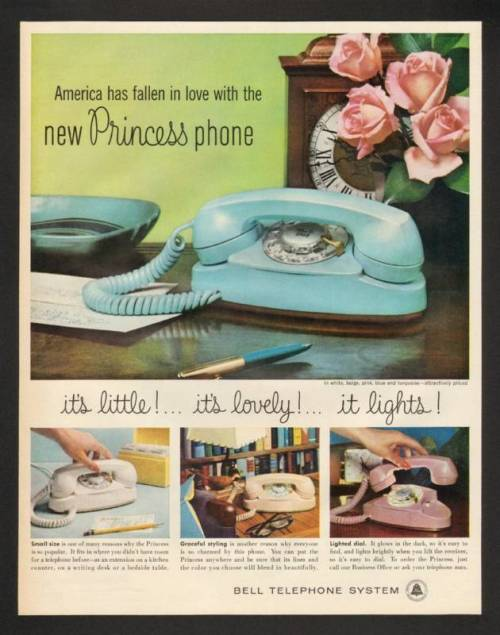 Bell Telephone System Princess Phone advertisement, 1960