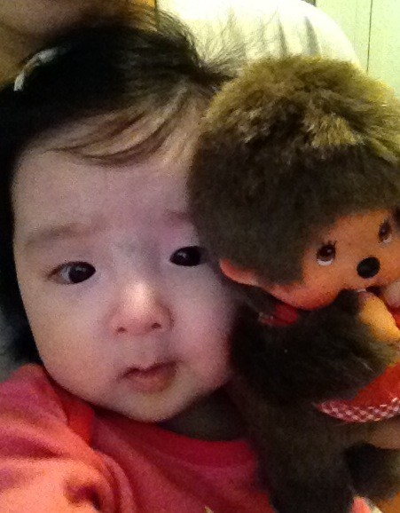 [Twitter att] @jacey714 Melody with her new best friend from JAPAN! Monchichi! [Twitter tradu] @jacey714 Melody com seu novo melhor amigo do JAPÃO! Monchichi!