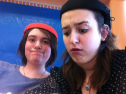 Oh…just having fun in French class!!