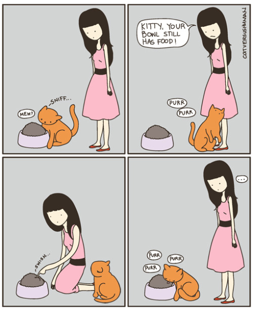 (via cat versus human)