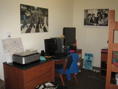 30 Day Photo Challenge Day 25: Artwork beatles art in my dorm.