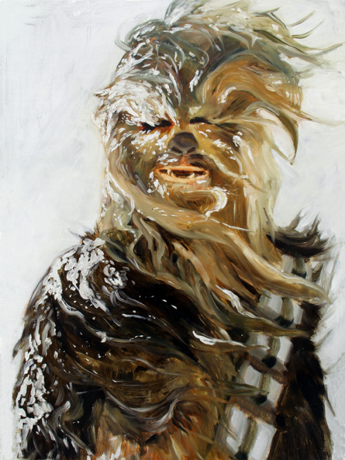 Jody Zinner,ChewbaccaOil on Paper, 2011