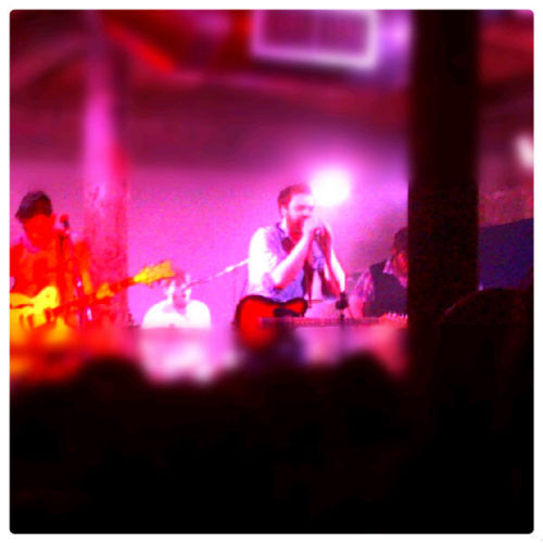 "Frightened Rabbit @ Stereo ""I reckon I'd have gotten less abuse in the past few days working in a call centre than I've had being in the band"". It's true, the torrent of abuse the band have had to endure over the past week despite the generosity they've shown with dirt cheap tickets for gigs in smaller venues has been disgraceful. However I'd like to commend the band for arranging the small string of intimate shows to showcase their new music when there was absolutely no need for them to do so. Enough of that nonsense though, let's move on to what really mattered. The purpose of the gig was to try out new material on the audience and from the outset they churned out new song after new song. By the end, I was left more than a little underwhelmed. Stereo is one of my favourite Glasgow venues and I've been to some of my favourite gigs there, however when it's as busy as it was last night and you're standing nearer the back the vocals tend to get lost in amongst all the tightly packed bodies. It could have been the muffled sound but not one of the new songs managed to excite me. There was a very repetitive and uninspired feel to the music and the songs sort of trudged along without any real heart or warmth. With that said, I was struggling to make out any of the vocals so I'll hopefully be able to judge better at the Picture House in a few weeks time. With the exception of a few drunken segments of the room, the crowd were for the most part rather boring. Not surprising really considering the majority of the set was new material but they perked up, albeit slightly, towards the end of the set as Frightened Rabbit played hit after hit for a solid half hour. Scottish Winds gets better and better live each time I hear it though and that's the first time I've heard it with the full band. Surprisingly that's only the second time I've saw Frightened Rabbit live. Julie-Anne and I first saw them about three years ago in Queen's Hall just before their popularity in Scotland skyrocketed and we've never managed to catch them since. We were at Leeds Festival instead the year they played T in the Park and we missed the two Barras gigs, however we've seen Scott perform solo at least five or six times. I look forward to hearing the new songs again under better circumstances and I hope they're a grower, but as far as last night was concerned they really didn't do anything for me. Excellent gig though and much love to Jodie for dragging herself out of bed and exercising her abnormally long legs all the way down to Mono to snap up the last four tickets to what was a much sought after gig."