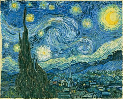 Vincent Van Gogh When creating my initial set, I was aware of how strong the link was between my set and some of Vincent Van Gogh's art. Upon looking at his work, I was very inspired by the use of strokes he had, and how well the overall image flowed, but most of all I was intrigued on how some of his images were beautiful, yet had a dark and somewhat mysterious look to them. Also, it made me question myself whether he tried to symbolise something behind this or if it was just purely because he preferred it that way. When developing my first set, I want to try and create a sense of mystery one way or another within mine, and possibly even make the audience question if it symbolised a hidden meaning like Van Gogh's piece did for me.