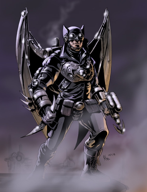 Batman - Steampunk  Art by Axel Medellin Machain