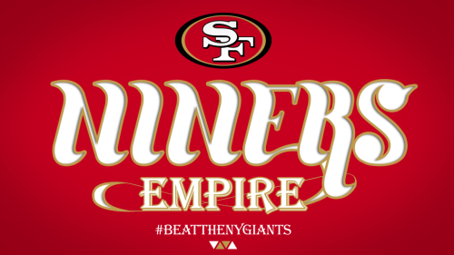 NINER EMPIRE. Custom type FINALLY finished!! #BEATTHENYGIANTS