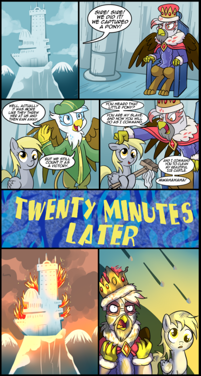 cutiemarkcrusaders:  a derp of bad luck by *CSImadmax