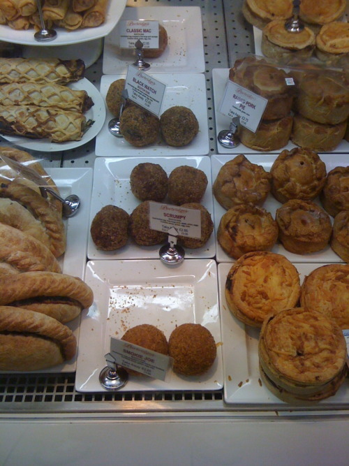 "Another submission from Gregor:  ""the scotch egg section in Partridges on the Kings Road - the 'Black  Watch' scotch egg was a highlight - Scotch egg with black pudding  instead of sausage.""   Want."