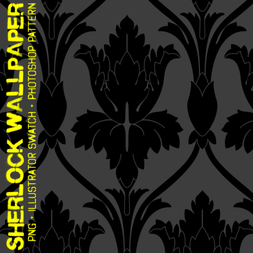 earlfoolish:  Hires 221B wallpaper pattern! File includes transparent png, illustrator swatch and photoshop pattern file. Use in whatever projects you want, no need to credit me if you don't want to (though it would be greatly appreciated), but do not claim as your own. It might not be perfect, but I think it should work well enough for most fanart purposes. Click through for download, or simply click here (zip, 378kb - mediafire)