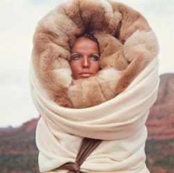 looks pretty snug!theneonangels:  Tan & Wrapped in fur #60s #CHIC