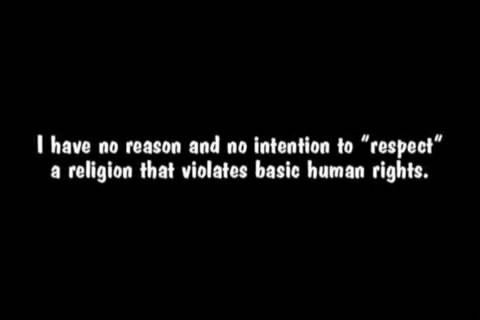 "religiousragings:  I have no reason and no intention to ""respect"" a religion."