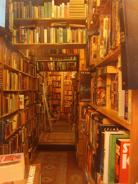 bookmania:  Armchair Books, Edinburgh, Scotland (photo by Fergus Ray Murray)