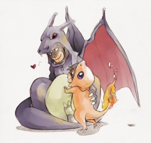 lulubonanza:  Batman and robin - pokemon by *XMenouX  heeeheeeeeee  n______n