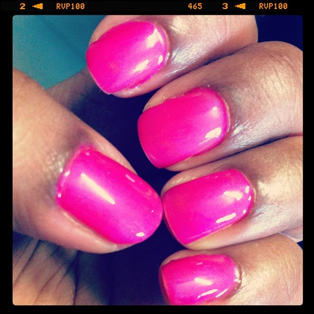 More like Nail of the Week: CND Shellac in Tutti Frutti (Taken with instagram)