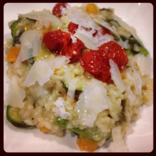 A culinary experiment that went well! My first attempt at risotto was an absolute smash.
