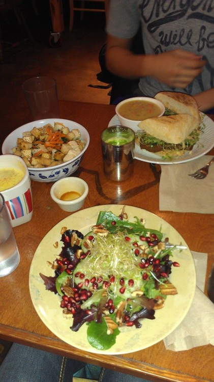 Delicious vegan food from Chaco Canyon Organic Cafe in Seattle, WA! :)
