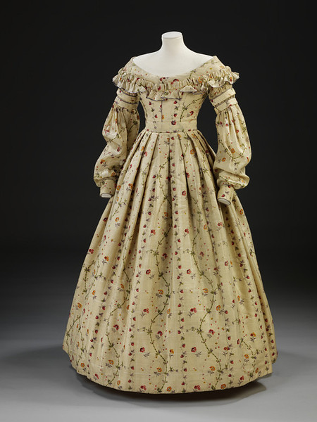 Day dress, 1837-40 UK, the V&A Museum