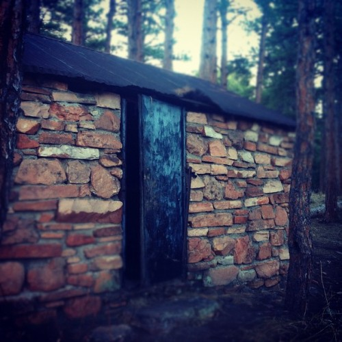 On the Adventure with Jakob, we stumbled upon this abandoned cabin. We went inside. (Taken with instagram)