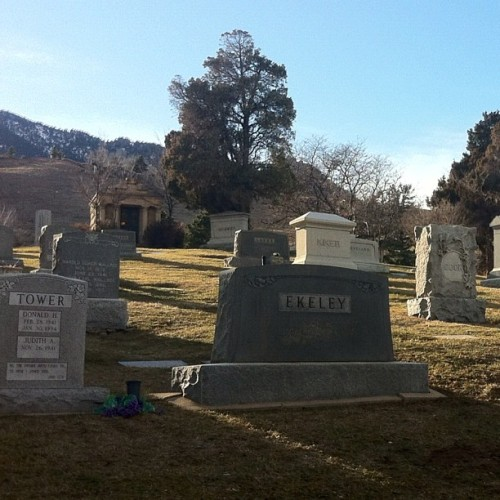 Boulder Cemetary (Taken with instagram)