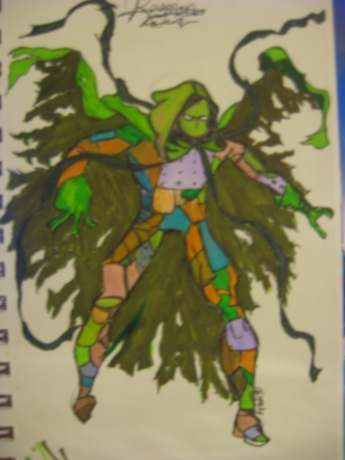 >-> I drew Ragman…Look at my lovely markers…