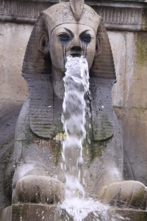 This sphinx looks like a sorority girl after a long night