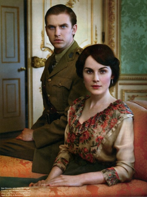 suicideblonde:  Dan Stevens and Michelle Dockery photographed by Robert Trachtenberg for Entertainment Weekly, January 2012