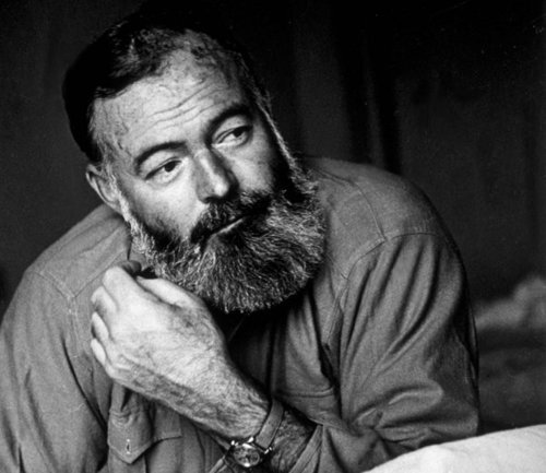 thisbattleisnotover:  eclectyca:  Hemingway's mustache was like his prose: straightforward, spare, and bold. (via 15 of the Greatest Literary Mustaches) Have a look at the article, it features the brave and the bold in literature - Vonnegut, Shakespeare, Flaubert, Mark Twain, Faulkner, Nietzsche, Sir Arthur Doyle, Tolstoy, Orwel, Gabriel García Márquez, and Rushdie (who was denied entrance to the famous Jaipur Lit Show recently)  His beard, meanwhile, was just this side of perfection. Also, apparently this is from the blog where Victoria just got a job? So, yeah. Small world.