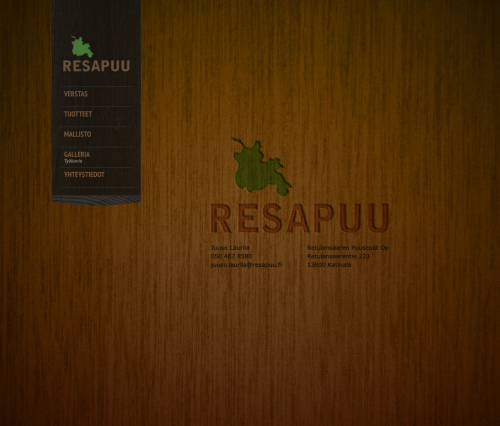 Tumma Studio designed a new website for the Resapuu, Retulansaaren Puusepät Oy - www.resapuu.fi  Resapuu is a carpenter workshop located in island of Retulansaari at Hämeenlinna region. They manufacture cool products like Sahapukki table's and Rento sofa's using traditional methods and material from the trees which has been sawed from the island.