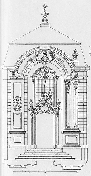 quiesquietis:  Facade design for a chapel in Eupen, 1747 - Johann Joseph Couven