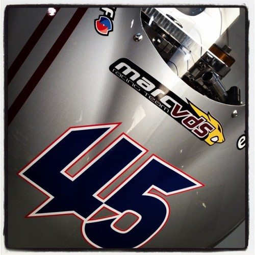 A sneak preview of the @reddingpower Moto2 bike for 2012 (Taken with Instagram at Marc VDS Racing)