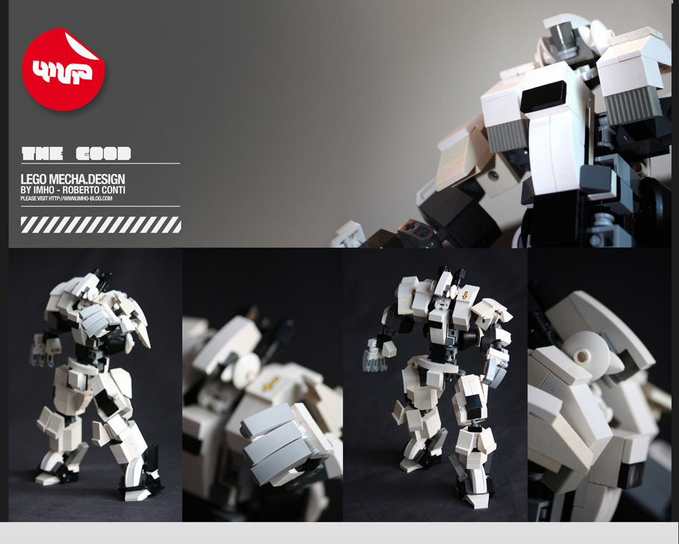 The Good - Lego Mecha design by Imho (Roberto Conti) 312 pieces - www.imho-blog.com