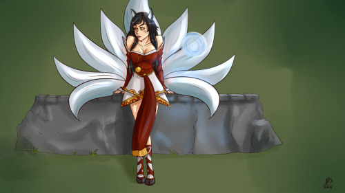 Ahri fan art!