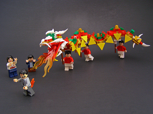 styleite:  Happy Chinese New Year! nprfreshair:  Happy Year of the Dragon! Dragon's Breath (by Legohaulic)